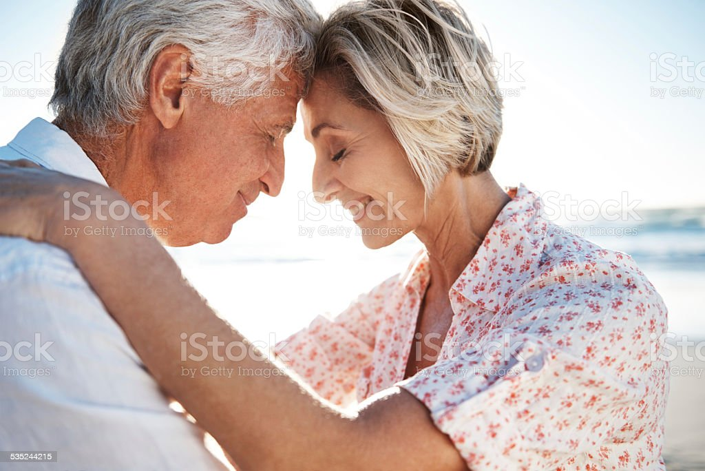 Tender moments together stock photo