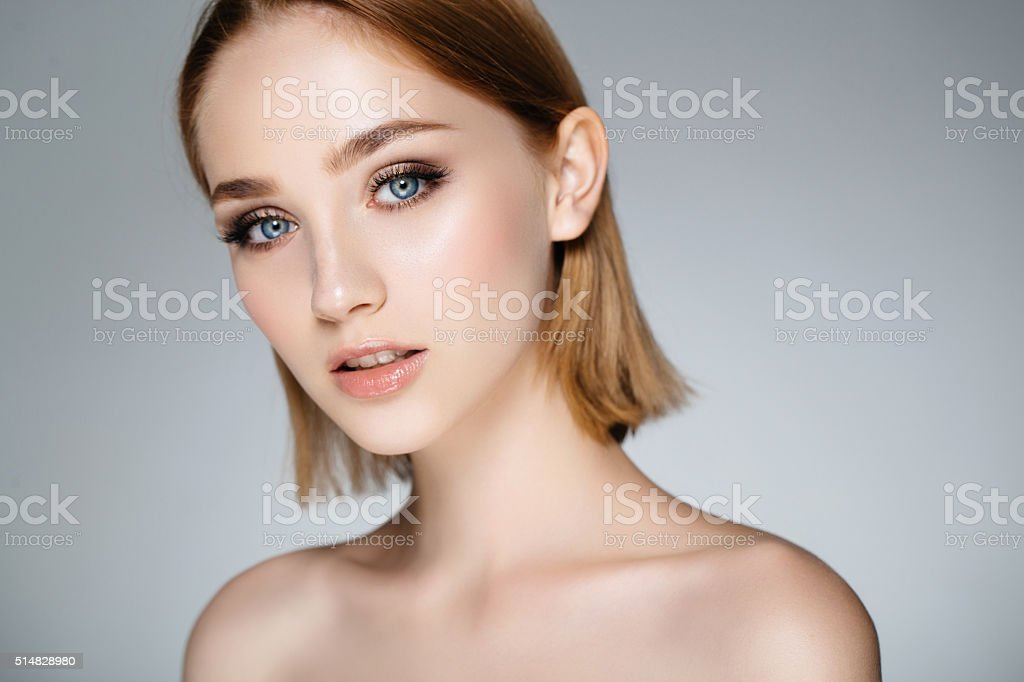 Tender portrait of a girl stock photo