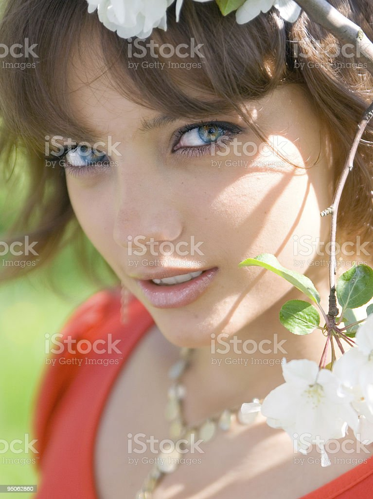 Tender portrait of a pretty girl royalty-free stock photo