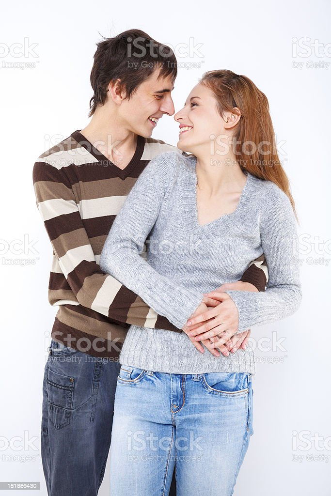 Tender young couple sharing romantic moments royalty-free stock photo