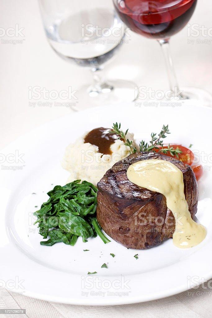 Tenderloin Filet with Bearnaise stock photo