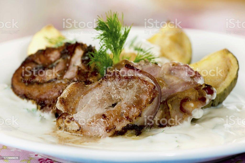 Tenderloin to wrap up in bacon royalty-free stock photo