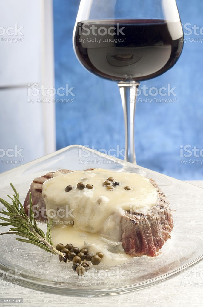 tenderloin with roquefort sauce royalty-free stock photo
