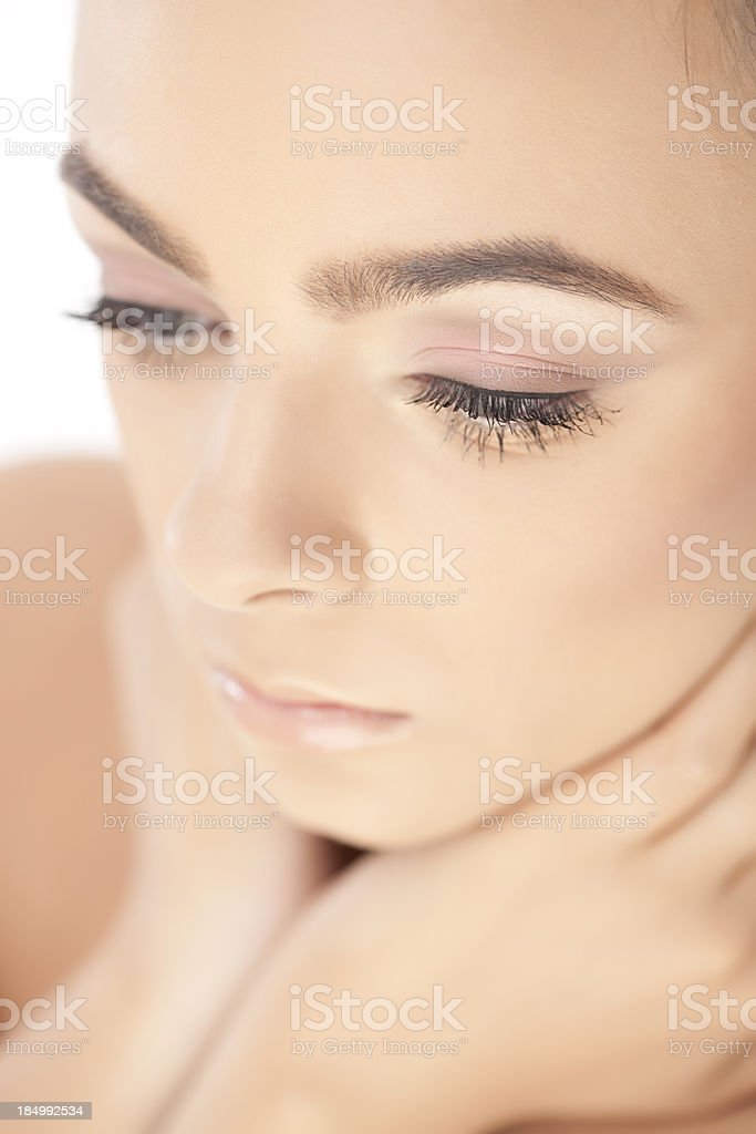 Tenderness-beauty face. royalty-free stock photo