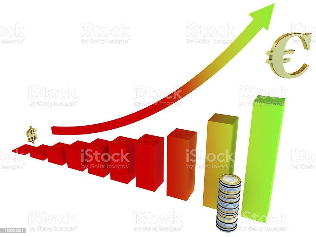 tending bar graph stock photo