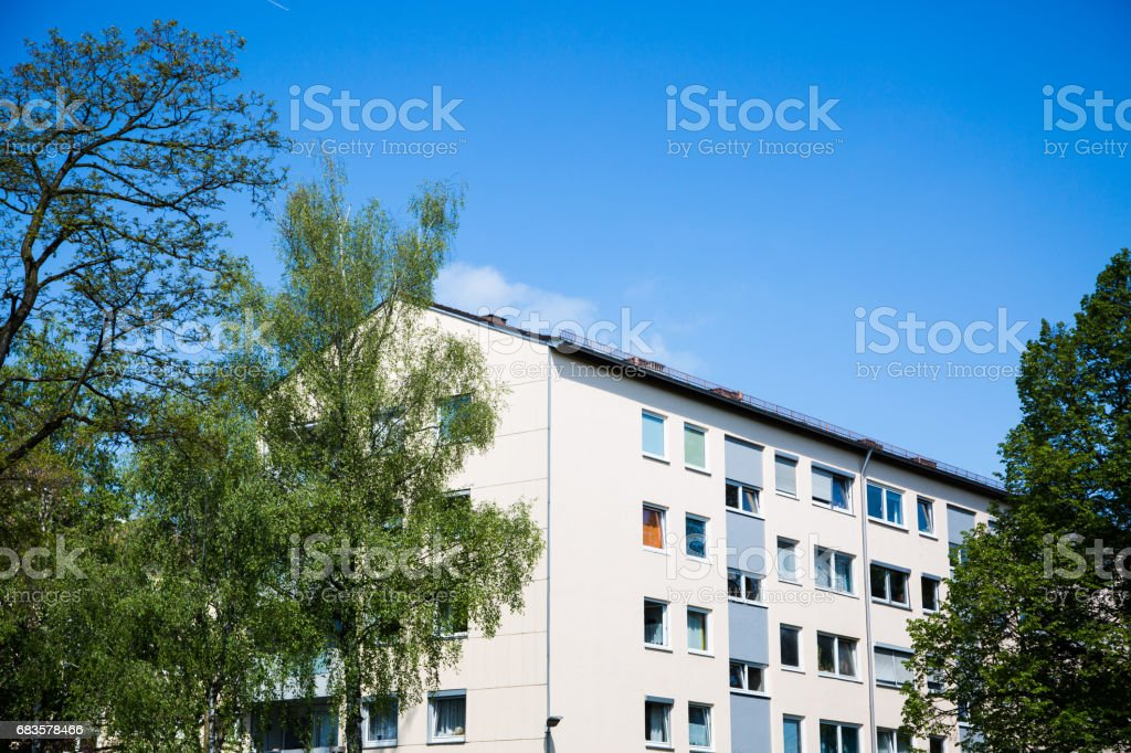 tenement house in Germany stock photo