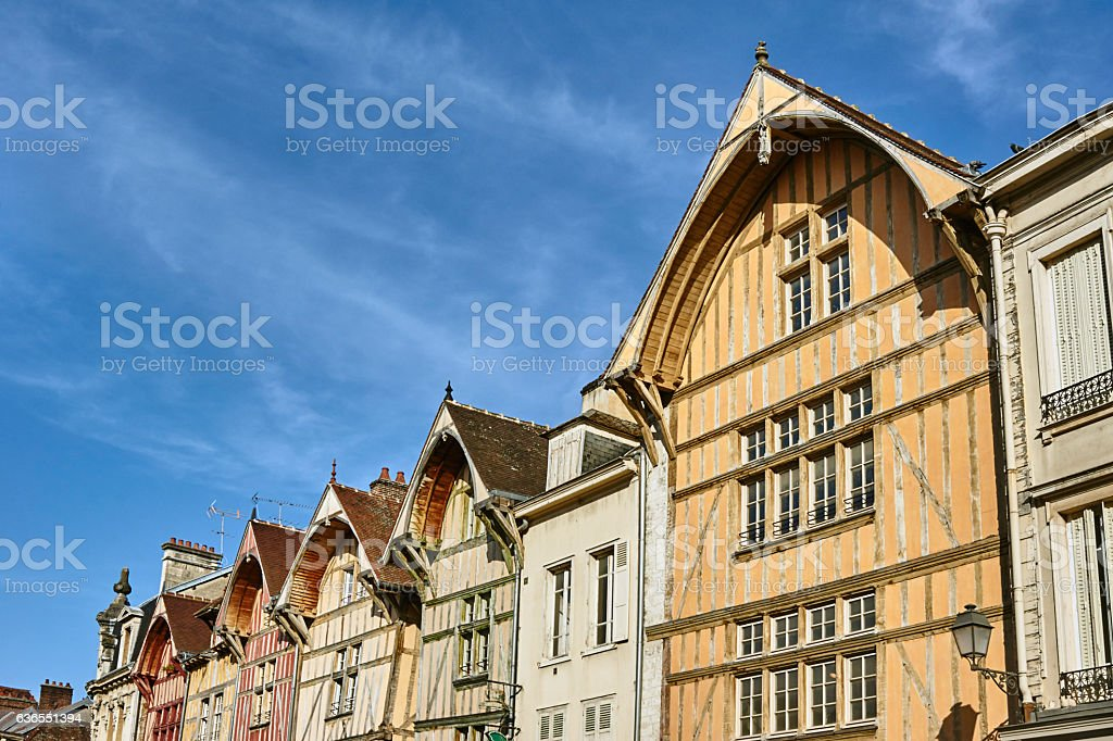 tenement house in old town stock photo