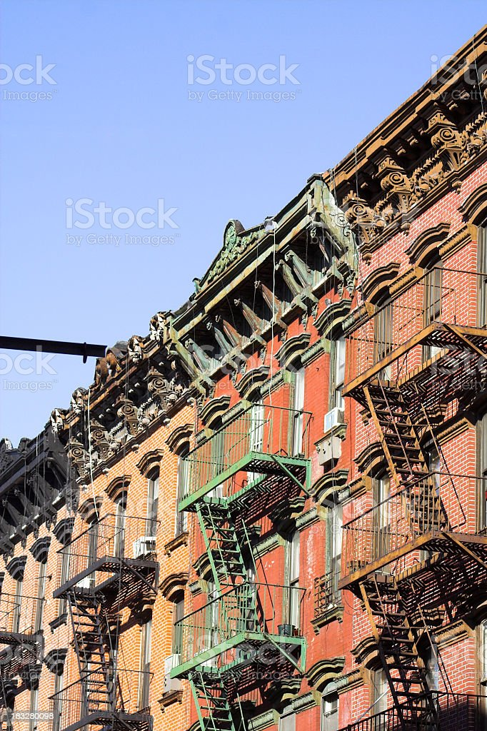 Tenements on Lower East Side stock photo