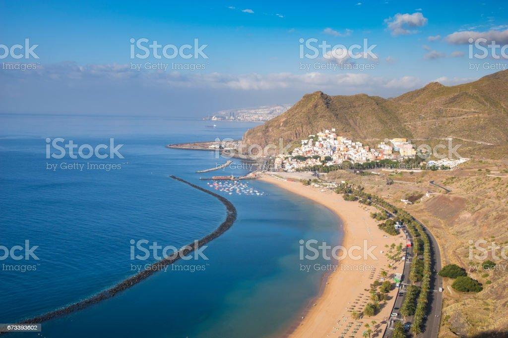 Tenerife, Canary Islands, Spain-Las Teresitas beach near San Andres stock photo