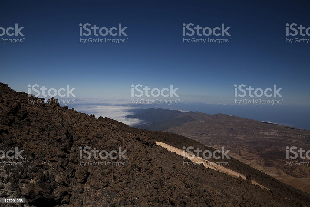 Tenerife from Mount Teide stock photo