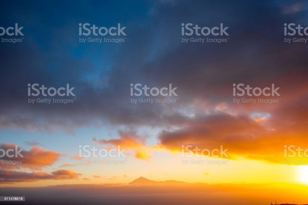 Tenerife island seascape stock photo