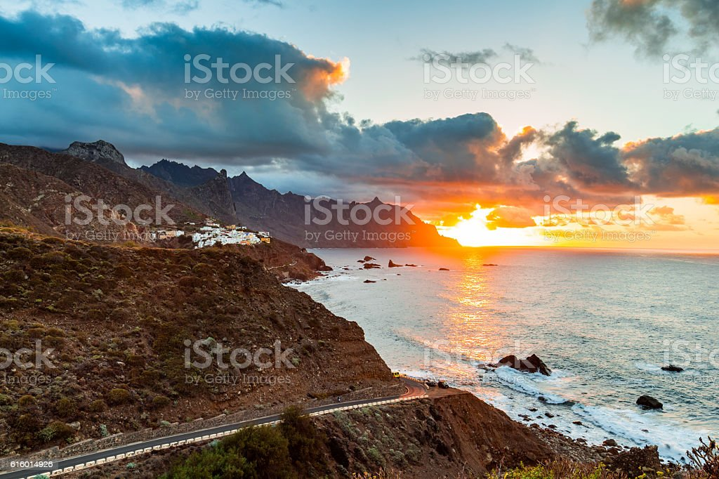 Tenerife landscape, Canary Islands, Spain stock photo