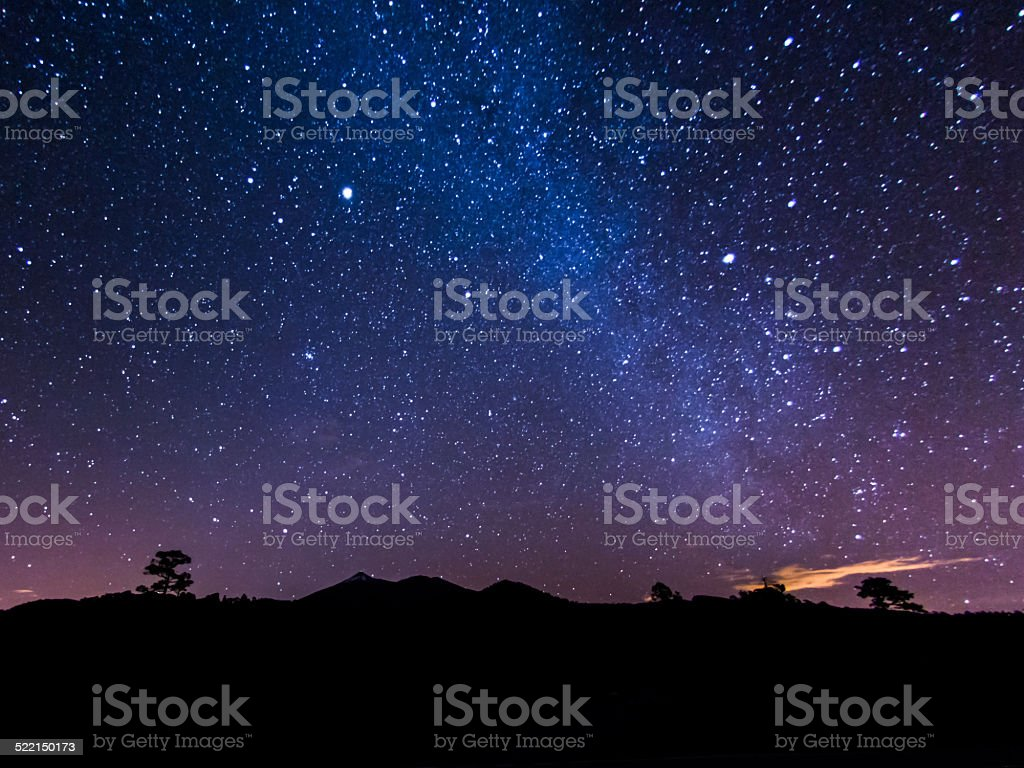 Tenerife Night Sky stock photo