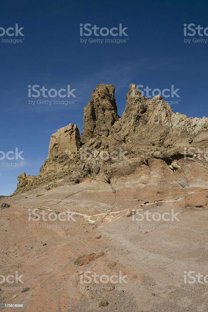 Tenerife - Teide National Park volcanic rock formation stock photo