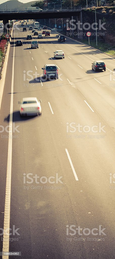 Tenerife Traffic Jam - motion blur car royalty-free stock photo