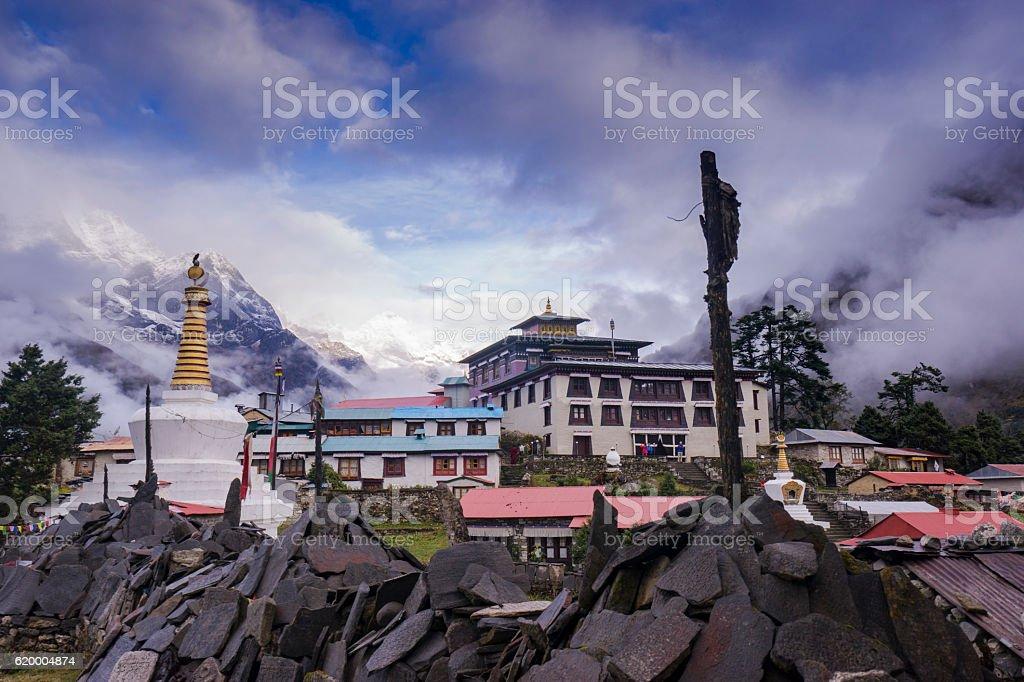 Tengboche Monastery in Tengboche. Everest region, Nepal stock photo