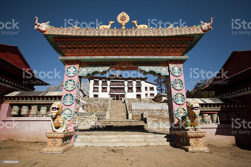 Tengboche monastery near Mount Everest stock photo