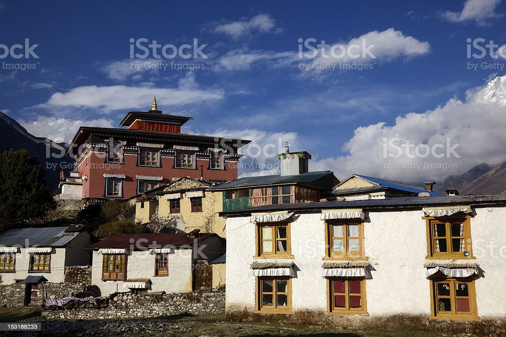 Tengboche Monastery stock photo
