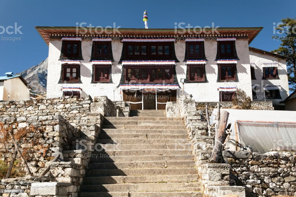 Tengboche Monastery stock photo