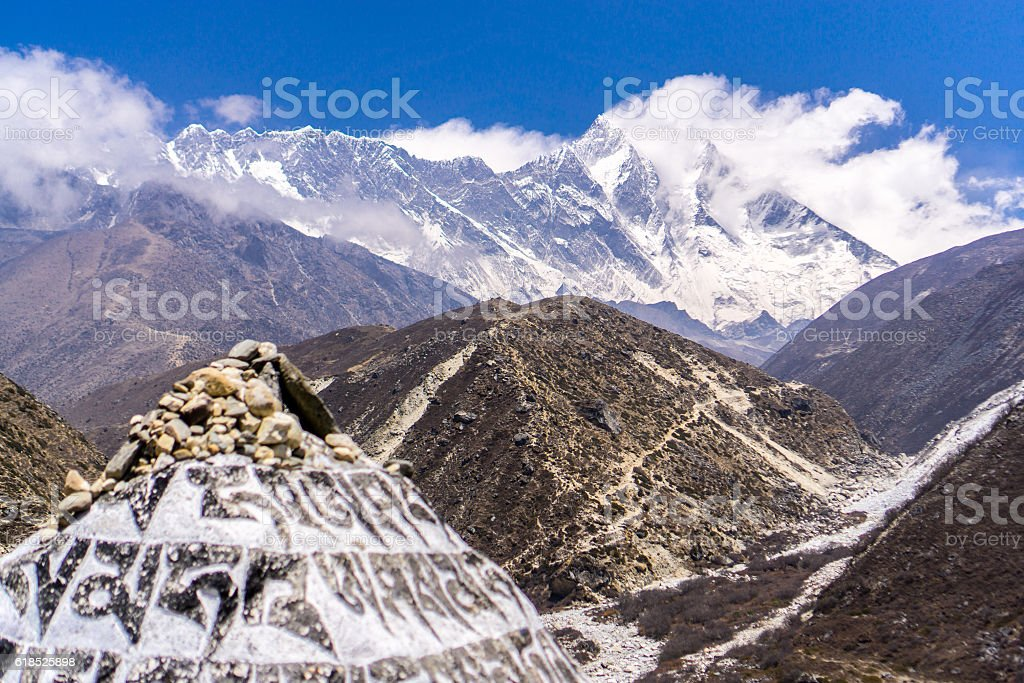 Tengboche to Dingboche, Nepal stock photo