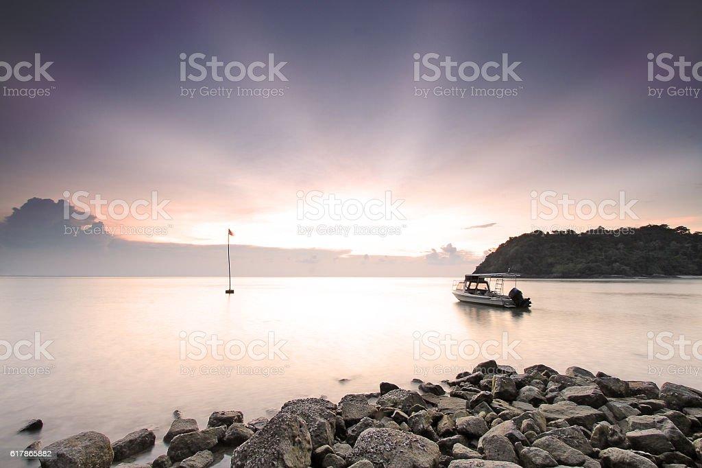 Tenggol Sunset stock photo