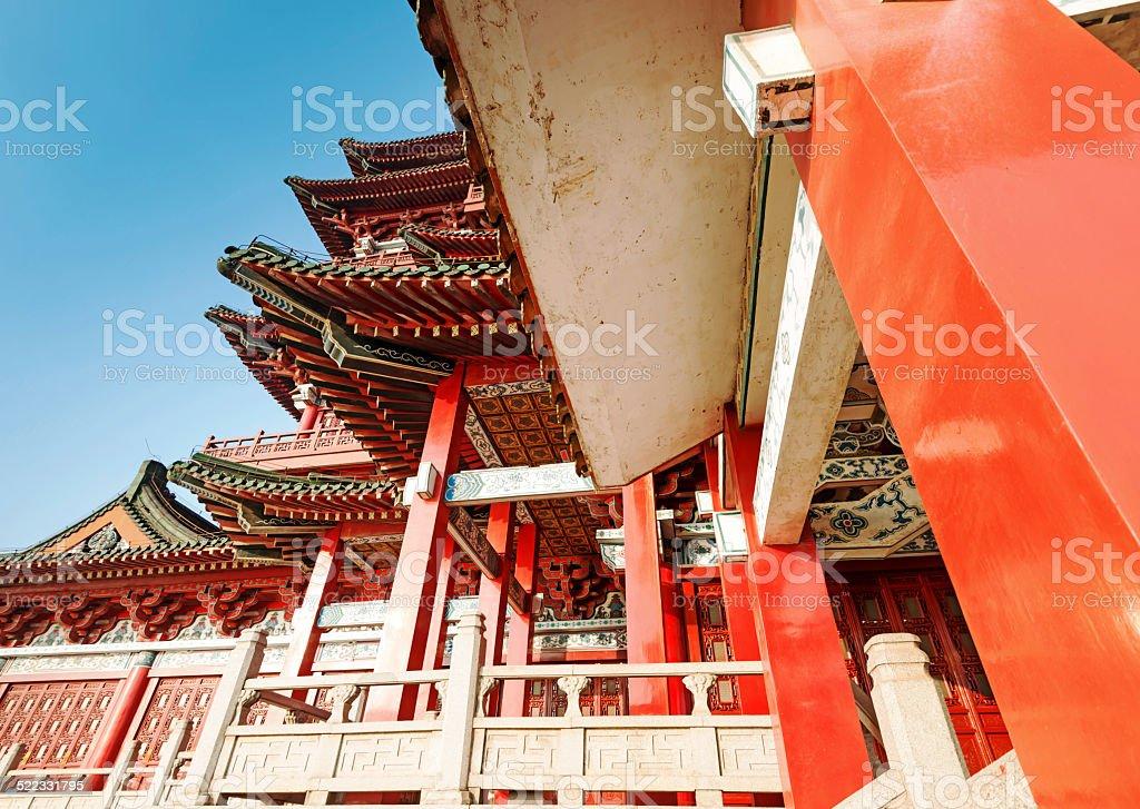 Tengwang Pavilion,Nanchang,t raditional, ancient Chinese archite stock photo