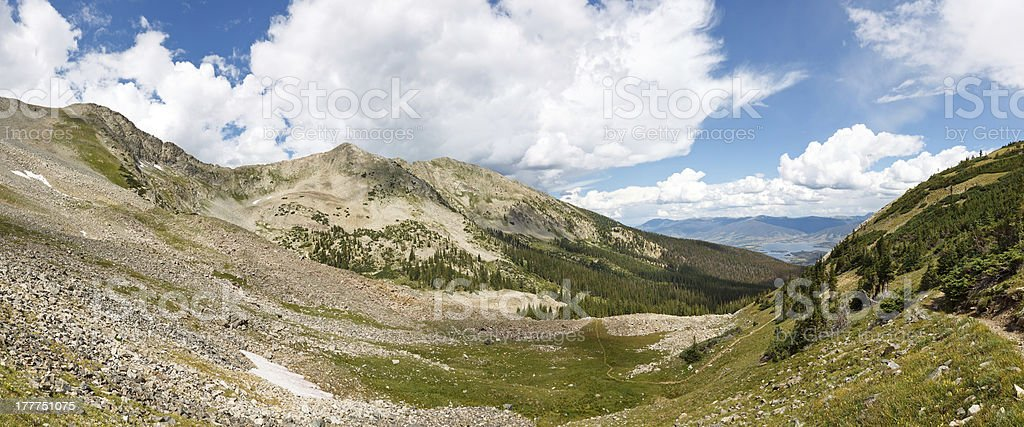 Tenmile Range Panorama, Rocky Mountains, Colorado stock photo