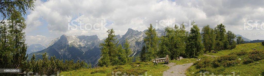 Tennengebirge in Salzburg stock photo