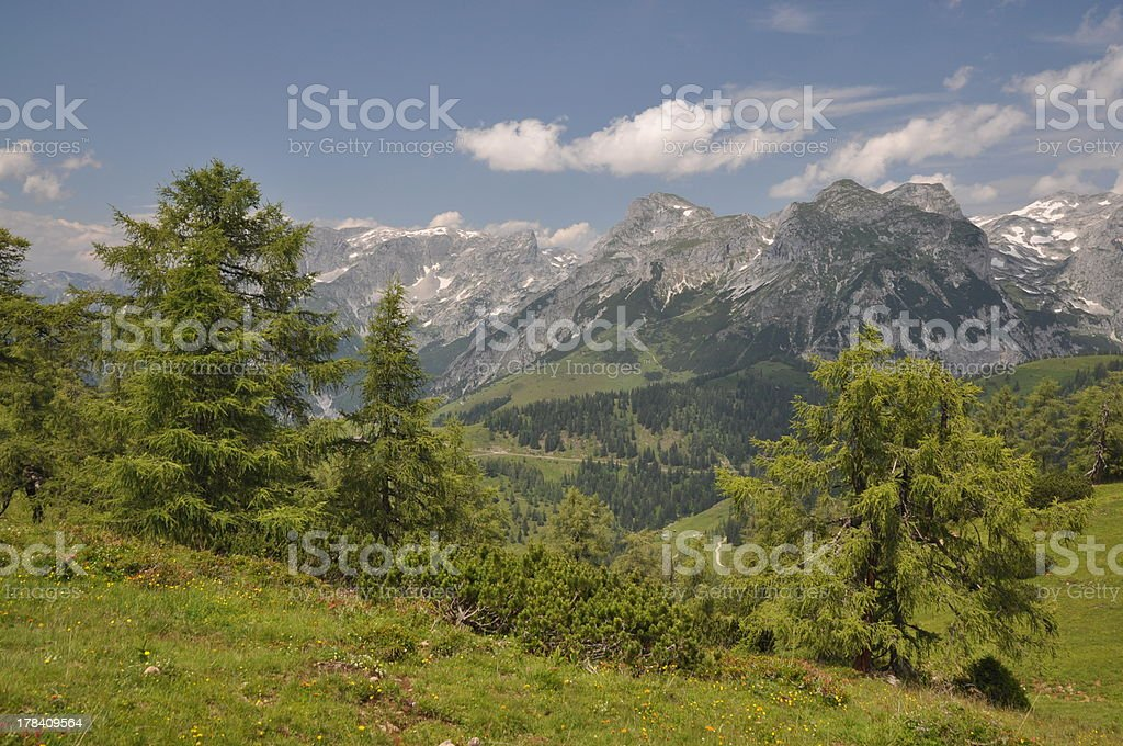 Tennengebirge, mountains in Austria stock photo