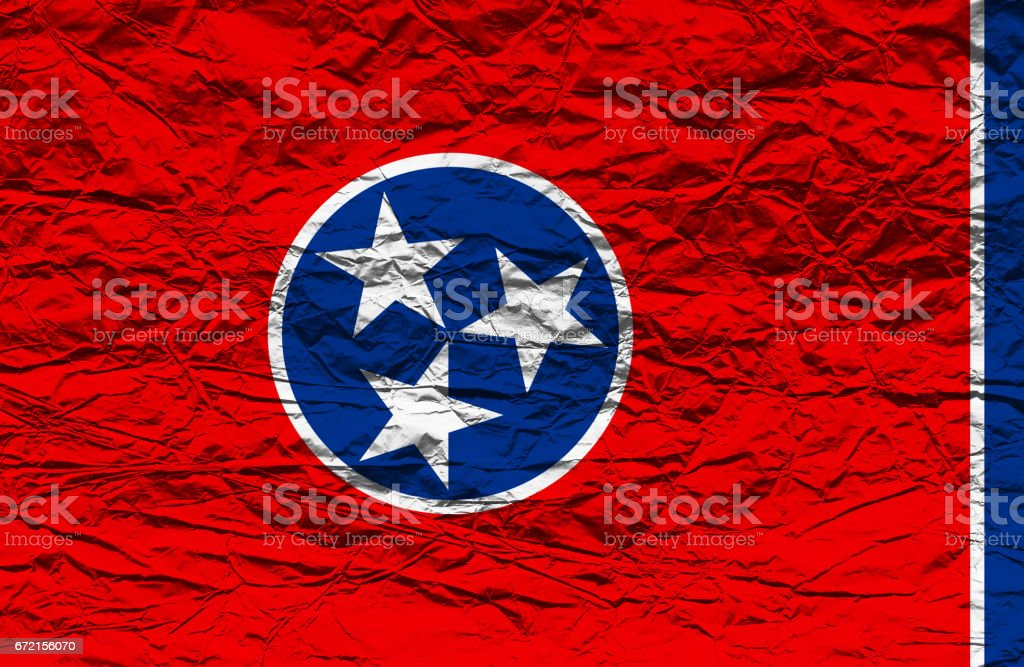 Tennesse State flag stock photo