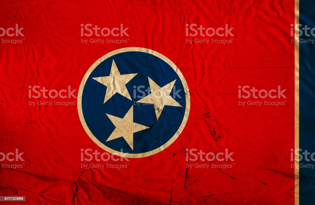 Tennesse State grunge flag stock photo