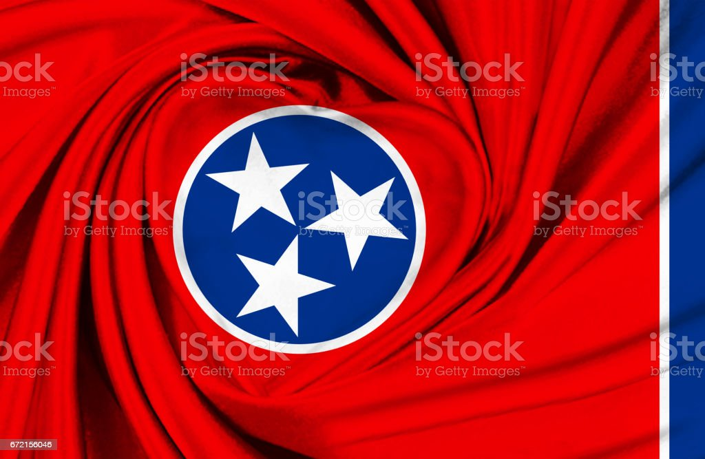 Tennesse State waving flag stock photo