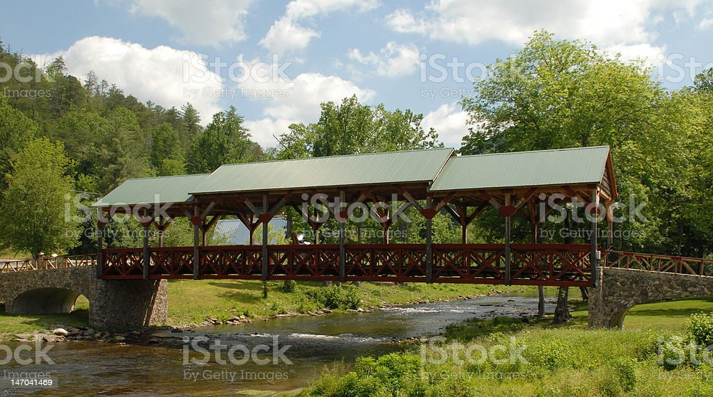 Tennessee covered bridge stock photo