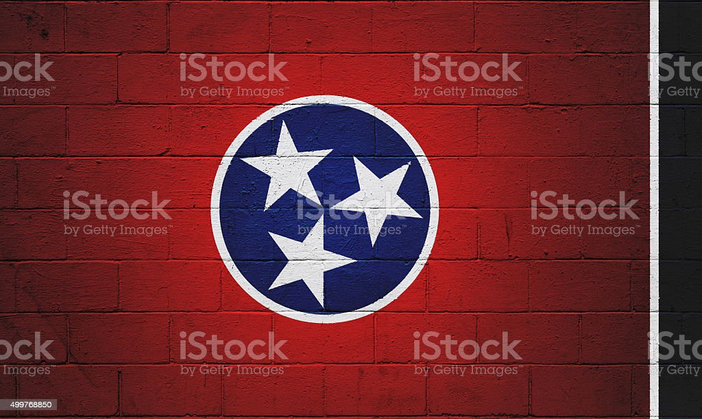 Tennessee Flag painted on a wall stock photo