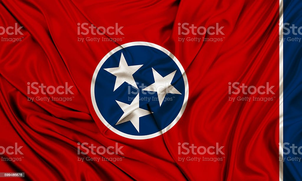Tennessee flag stock photo