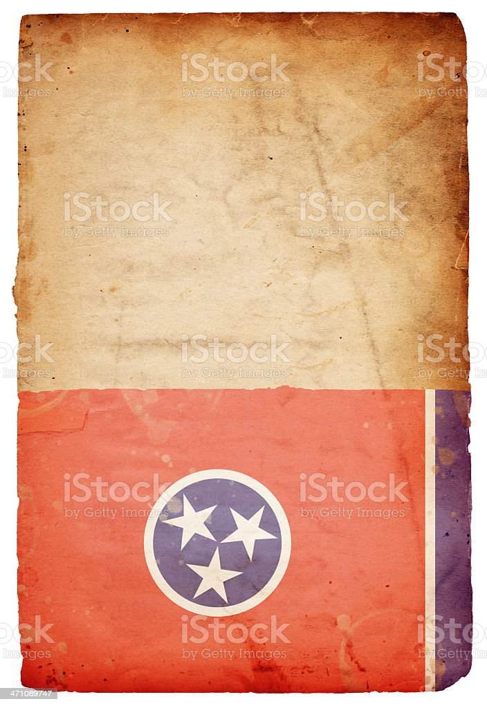 Tennessee Flag XXXL royalty-free stock photo