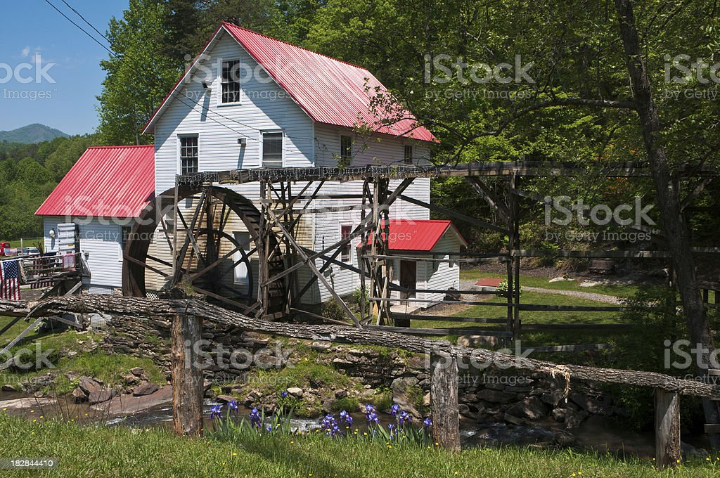 Tennessee Mill in the Mountains stock photo