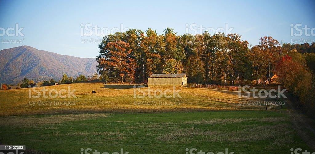 Tennessee mountain farm royalty-free stock photo