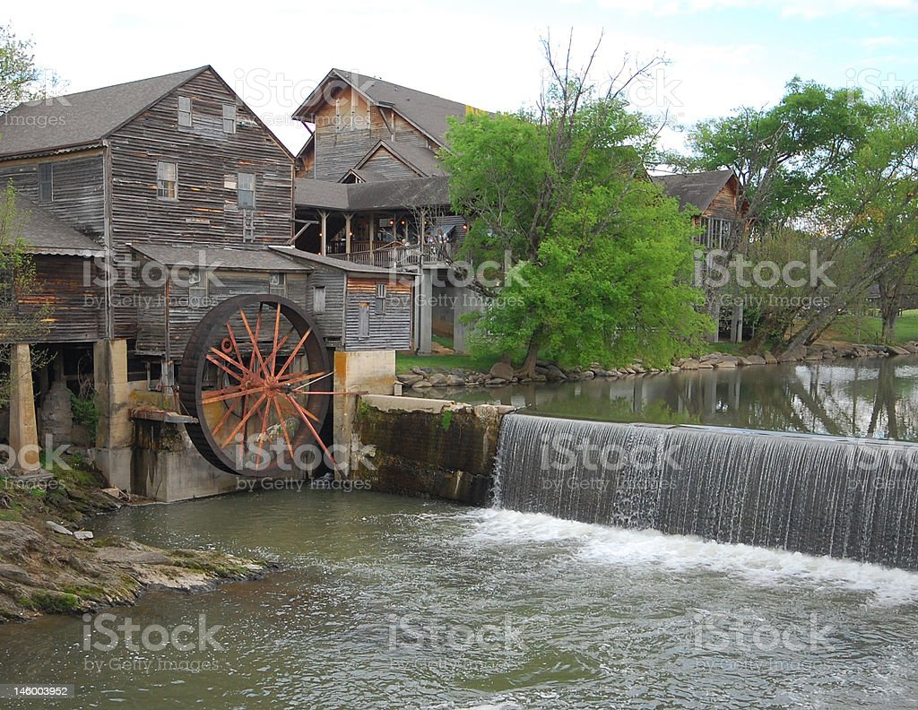 Tennessee Old Mill stock photo