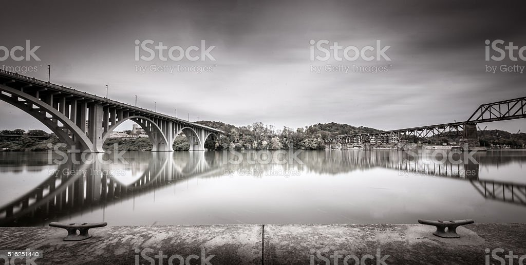 Tennessee river, Knoxville stock photo