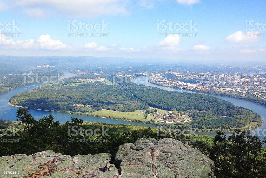Tennessee River Overlook stock photo