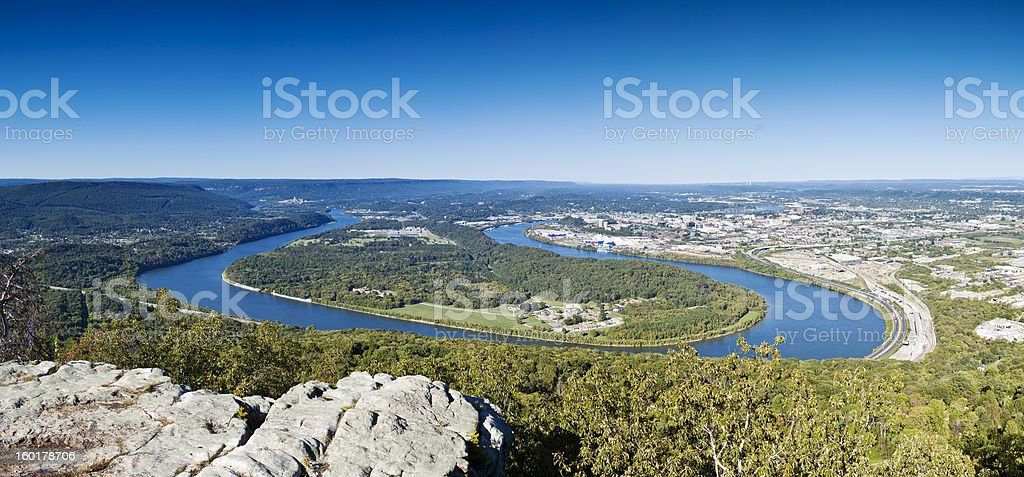 Tennessee River Panorama From Chattanooga stock photo