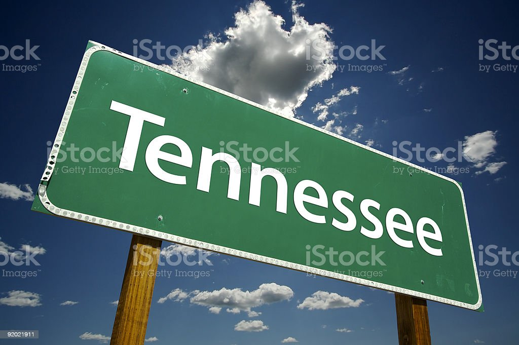 Tennessee Road Sign royalty-free stock photo