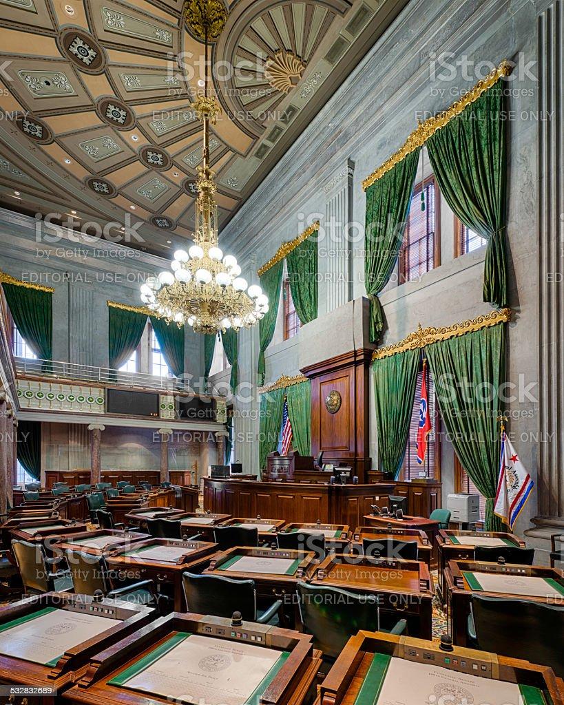 Tennessee Senate Chamber stock photo