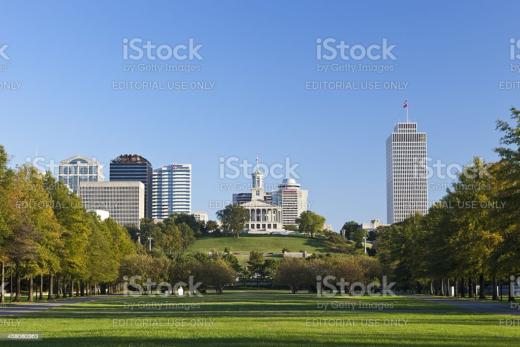 Tennessee State Capital Building In Nashville stock photo