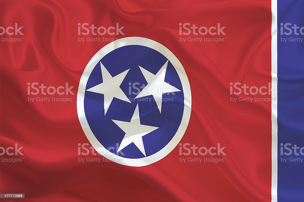 Tennessee State Flag stock photo