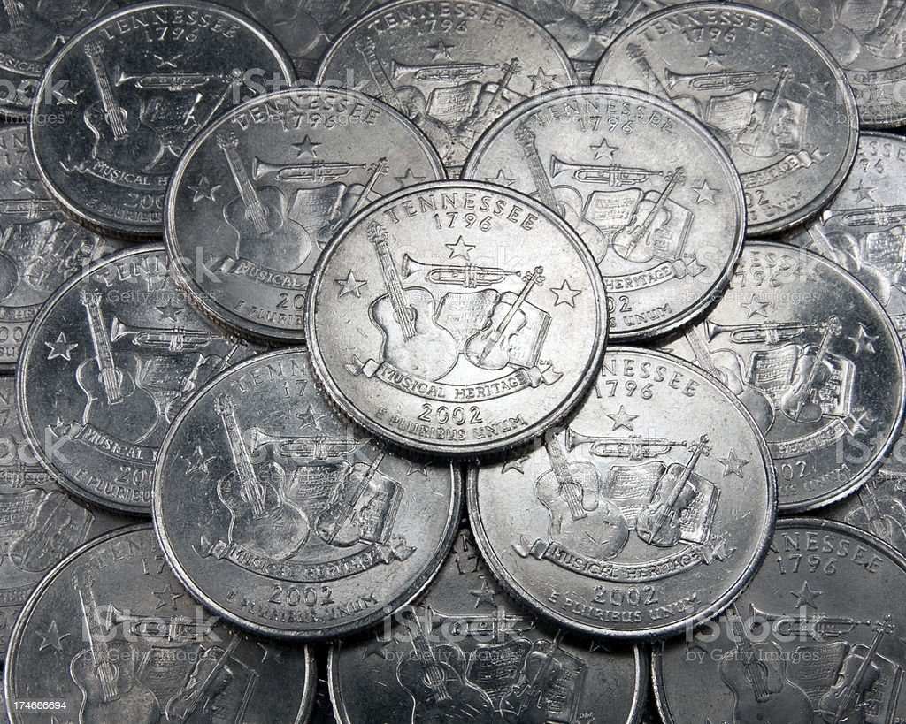 Tennessee State Quarter royalty-free stock photo