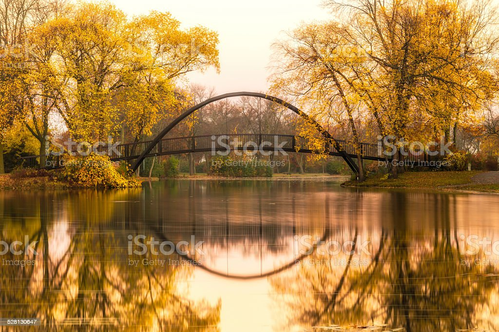 Tenney Park Bridge stock photo