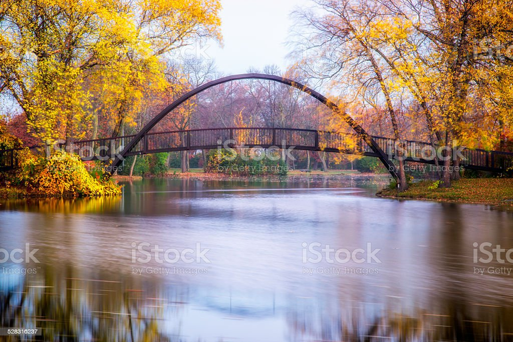 Tenney Park Bridge stock photo