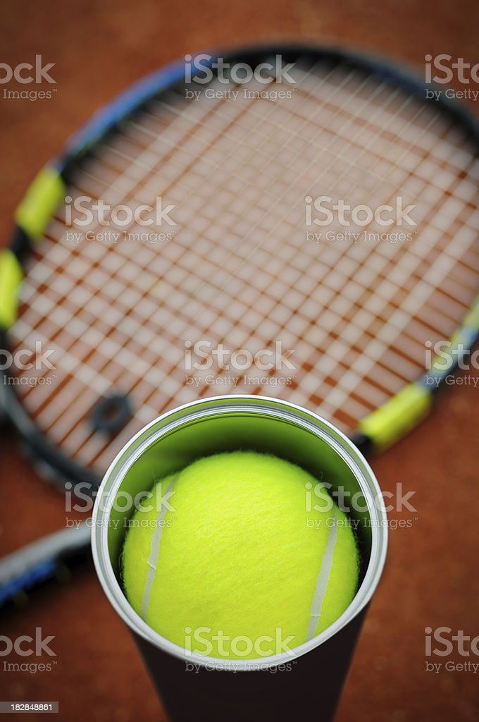 Tennis accessories stock photo